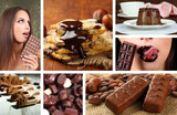 Chocolate collage