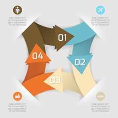 Modern business origami style options paper banner