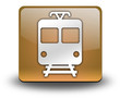 "Orange 3D Effect Icon ""Train / Mass Transit"""