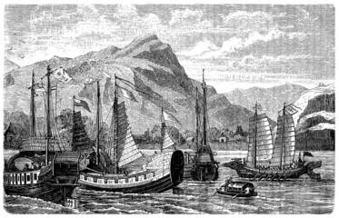 Asian Ships - 17th century