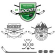 Ice hockey labels, badges and design elements
