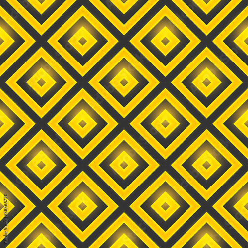 Retro pattern of geometric shapes. Seamless vector pattern with