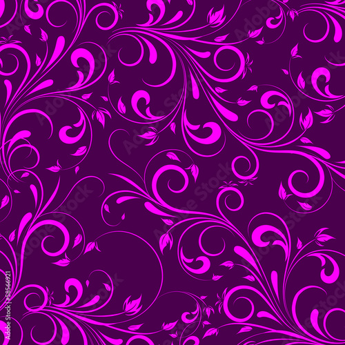 Vector flowers patterns on a cherry background