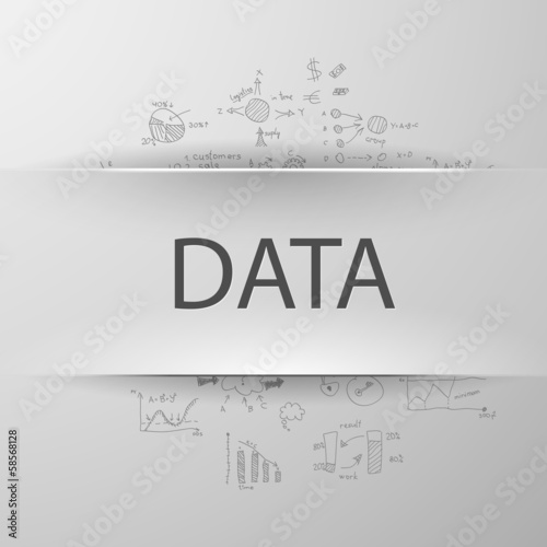 "Information concept: inscription ""BIG DATA"" with formulas"