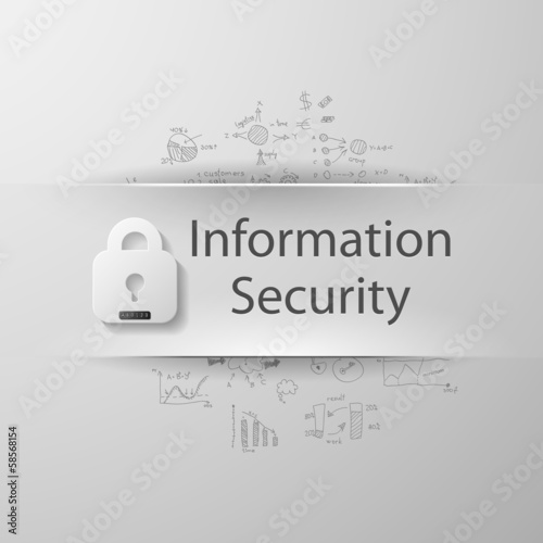 "inscription ""Information security"" with formulas"