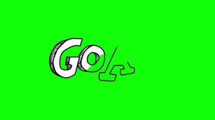 Animation of the word goal gestating