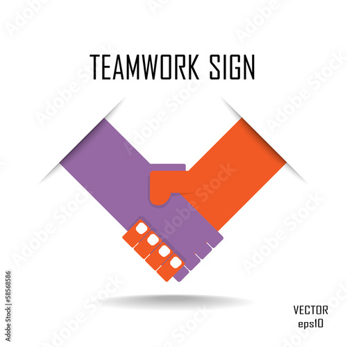 Handshake abstract logo vector design template. Business creativ