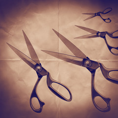 scissors on paper backdrop