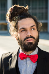 Stylish elegant dreadlocks businessman