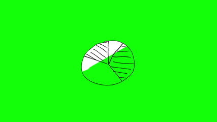 Animation of gestating colourful pie chart
