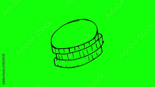 Animation of appearing pile of coins