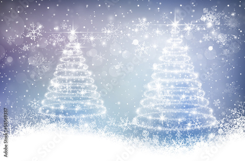 Magic christmas background