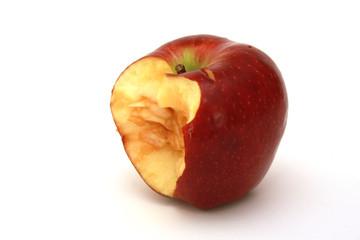 ısırılmış kırmızı elma