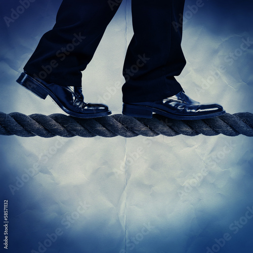 walking on rope paper backdrop