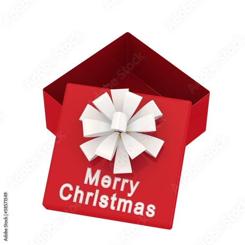 Gift box with an inscription Merry Christmas