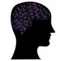 Human brain, symbol of psychology