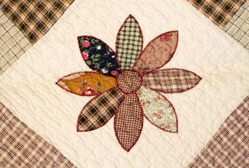 Patchwork Hintergrund Landhausstil Blume