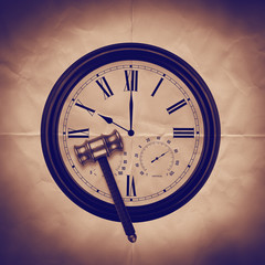 time ticking paper backdrop