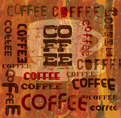 vintage coffee menu  design, vector eps 10