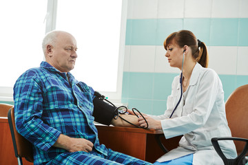 nurse at Blood pressure medic test