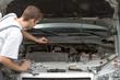 Mechanic fixing and repairing