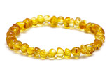 Baltic amber bracelet, lemon color model