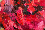 Abstract dark red oil painting on canvas.