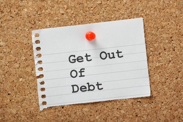 Get Out Of Debt reminder note
