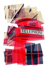 telephone box collage