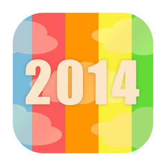 2014 new year icon