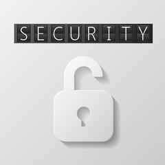 White lock icon