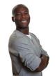 Portrait of an african man in a grey shirt