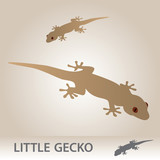 little vector gecko eps10