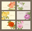 Set of vintage vector horizontal business cards