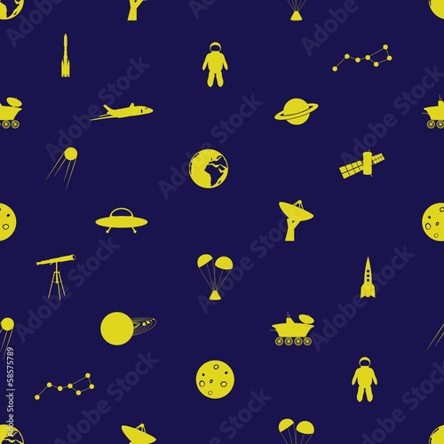 space icon pattern eps10