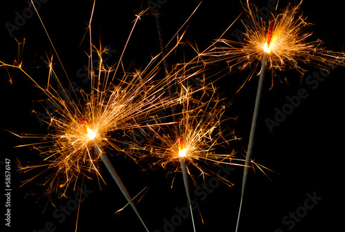 burning christmas sparkler