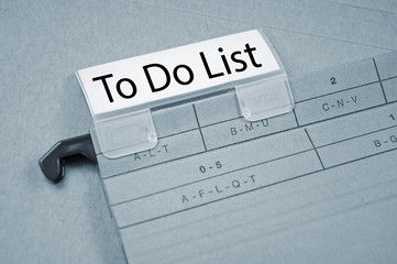 Ordner mit To Do List