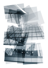 abstract building collage