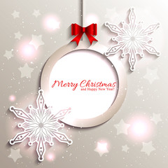 Sparkling Christmas Star Snowflake
