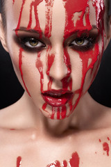 Creative bloody makeup