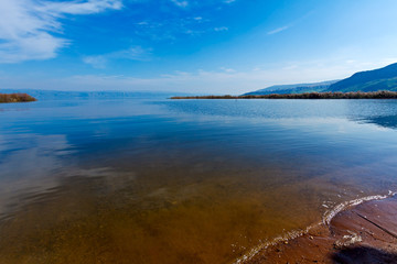 Landscape of Kinneret Lake - Galilee Sea