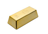Gold ingot, bullion or bar