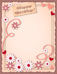 birthday scrapbooking card
