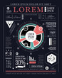 Retro infographic. Information graphics