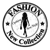 Fashion, new collection stamp
