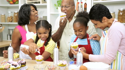 Little Ethnic Girls Fun Home Baking Lesson