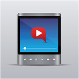 Video or music player for web