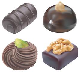 Quatre chocolats de Noël