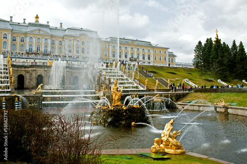 The Grand Cascade in Peterhof, St. Peterburg