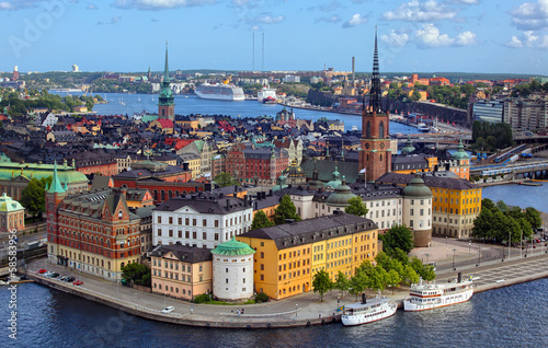 Leinwandbild Motiv .Stockholm City